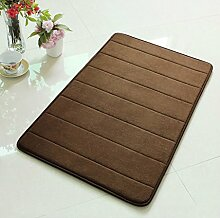 Memory-Schaum-Badematte absorbierenden Matten Küche Matten Anti-Rutsch-Streifen Bad Fußmatte Fußmatte ( farbe : 6# , größe : 50*80cm )