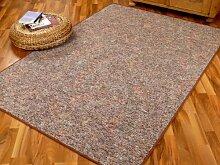 Memory Schlingen Teppich Braun Meliert in 24