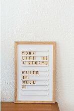 Memotafel Letterboard ModernMoments Farbe: Weiß