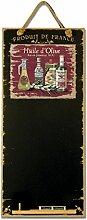 Memotafel Olive Oil Vintage 60 x 26,5 Kreidetafel Tafel mit Kordel Wandtafel Deko Schreibtafel