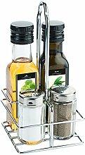 Menage Salz/Pfeffer/ Öl/Essig