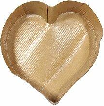 Menastyl Kochen 8011385.0Backen Formen Herz Karton Schokolade Durchmesser 17,5cm Pack 4
