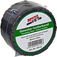 MenaVet Gewebe Isolierband 50/25 schwarz pliss.
