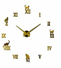 Menddy 3D DIY Acryl Wanduhr Aufkleber Uhr Uhren