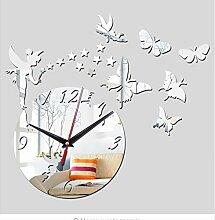 Menddy Acryl Wand Uhr Home Decor 3D Spiegel Uhren