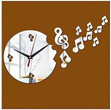 Menddy Dekoration Acryl Spiegel Uhren Sicher