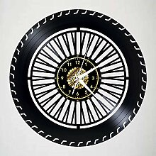 Menddy Kreative Reifen Schallplatte Wanduhr Led