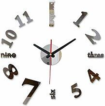 Menddy Neue 3D Uhr Wanduhren Uhr Große Dekorative