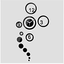 Menddy Neue Spiegel Wanduhr Uhr DIY Nadel 3D Uhren