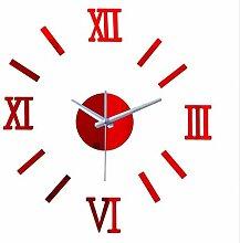Menddy New Rushed Modernes Design DIY Spiegel Uhr