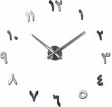 Menddy Uhr Uhr Wanduhren 3D DIY Acryl Spiegel