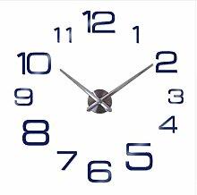 Menddy Wanduhr Moderne 3D Große Quarzuhr Uhren