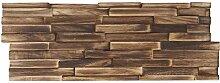 Mendler 10x Teak-Holzfliesen HWC-B95 (1qm), 3D