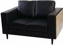 Mendler 2er Sofa Nancy, Couch Loungesofa, Holz