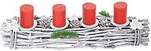 Mendler Adventskranz länglich, Weihnachtsdeko