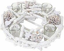 Mendler Adventskranz rund mit Teelichthaltern,