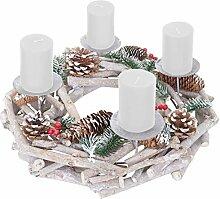 Mendler Adventskranz rund, Weihnachtsdeko