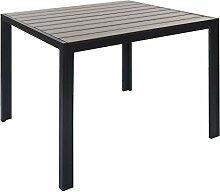 Mendler Gartentisch HWC-F90, Tisch Esszimmertisch,