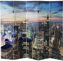 Mendler LED-Paravent Trennwand Raumteiler New