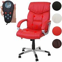 Mendler Massage-Bürostuhl HWC-A71, Drehstuhl Chefsessel, Heizfunktion Massagefunktion Kunstleder ~ Ro