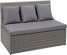 Mendler Poly-Rattan 2er Sofa HWC-G16,