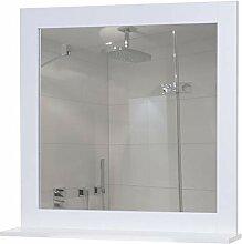 Mendler Wandspiegel mit Ablage HWC-C66, Badezimmer