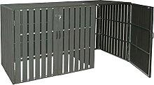 Mendler XL 1er-/2er-WPC-Mülltonnenverkleidung