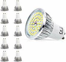 Mengjay® 10 Stück - 5.5 Watt GU10 LED Lampe 48