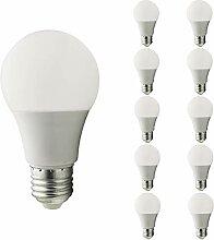Mengjay® 10 Stück E27 LED Birne, 9W 800 Lumen