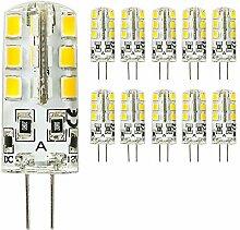 mengjay® 10 Stück - G4 LED 24 SMD 2835