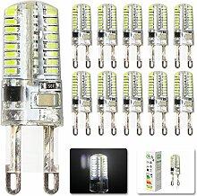 Mengjay® 10 Stück - LED lampen G9 3W LED