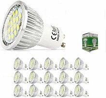 Mengjay 15 Stück - 5.5 Watt GU10 LED Lampe 48 SMD
