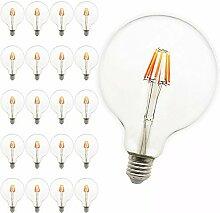 Mengjay® 20er-Pack, 8W E27 LED-Lampe, Globe-Form