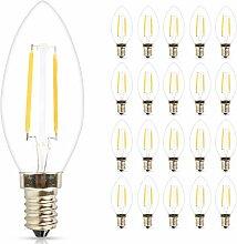 Mengjay® 20X E14 2W LED Lampen, Ersatz für 20W