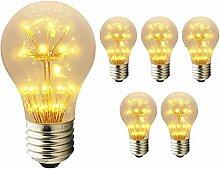 Mengjay 5 Stück 3W LED Nostalgie E27 LED Lampe