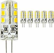 mengjay® 5 x LED G4 2835 SMD 3 W DC 12 V Warm