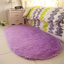 Mengjie Modern Hochflor Shaggy Teppich Bedside