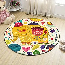 Mengjie Modern Hochflor Shaggy Teppich Cartoon
