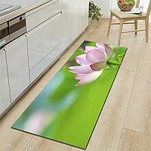 Mengjie Modern Küchenläufer Grüner Lotus 7MM