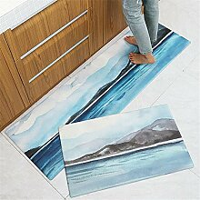 Mengjie Modern Weiche Teppich PVC Leder Blue Sea