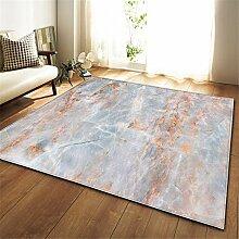Mengjie Moderner Wohnzimmer Teppich Blau orange