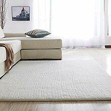 Mengjie Nordic Solid Pile Teppich für Wohnzimmer
