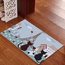 Mengjie Teppich Modern Küchenläufer Blaue