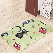 Mengjie Teppich Modern Küchenläufer Grüne Katze
