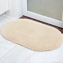 Mengjie Wohnzimmer Teppich Lammfell oval