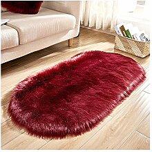 Mengjie Wohnzimmer Teppich oval Nachttisch Matte,