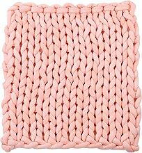 Mengonee Dicke Wolldecke Chunky Knit Fußmatte