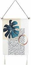 Mengonee Grüne Pflanzen Blatt Makramee Tapestry