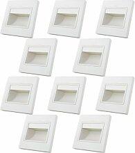 MENGS® 10 Stück 1W COB LED Wand &
