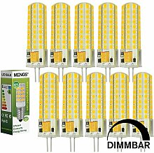 MENGS® 10 Stück Dimmbar G4 LED Lampe 7W AC/DC